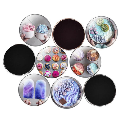 5Pcs Fruit Ice Cream Glass Decorative Fridge Refrigerator Magnets