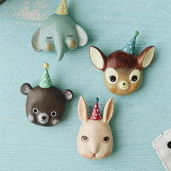 4Pcs Funny Animal Decorative Fridge Refrigerator Magnets