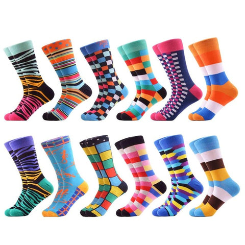 12 pairs Cool Happy Funny Women Socks