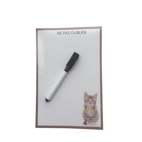 Cute Cat Dog Erase Message Board Fridge Refrigerator Magnets