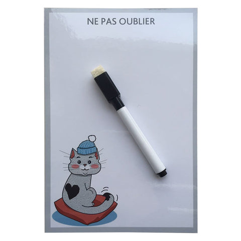 Cute Cat Erase Message Board Fridge Refrigerator Magnets