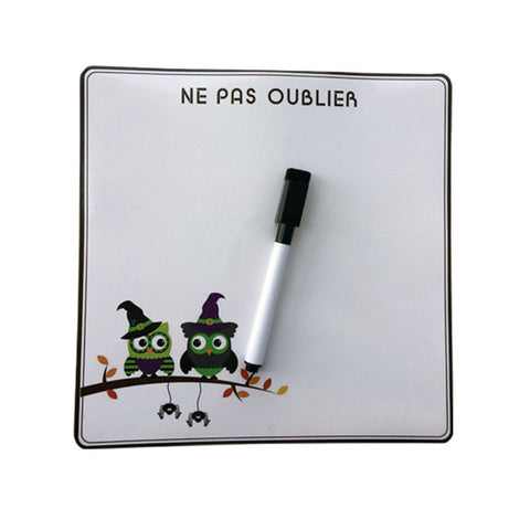 Cute Owl Erase Message Board Fridge Refrigerator Magnets