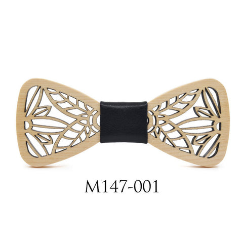 Butterfly Wedding Bowknot Wooden Bow Tie