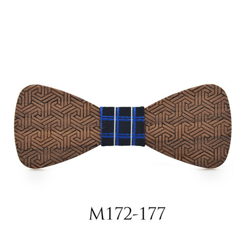 Style Business Banquet Wooden Bow Tie