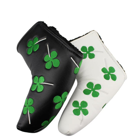 Lucky Grass PU Leather Putter Golf Head Covers