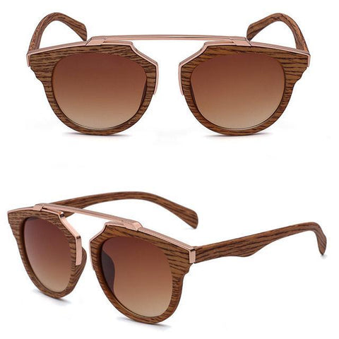 Retro Wooden Bamboo Sunglasses