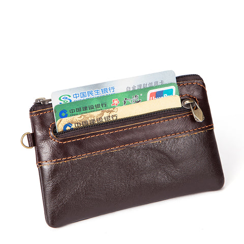 Genuine Leather Thin Slim Minimalist Wallet
