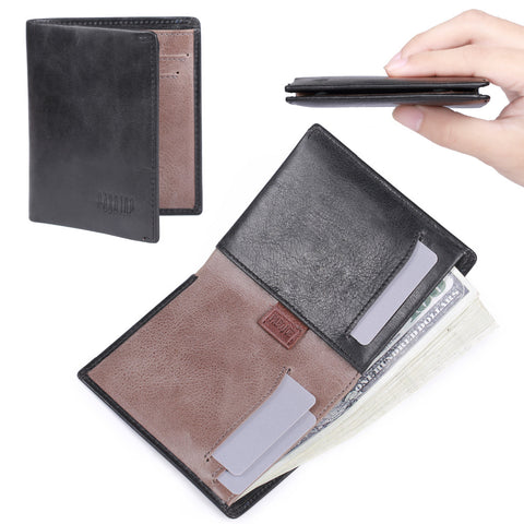 Front Pocket Genuine Leather Slim Minimalist Wallet