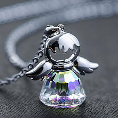 Crystal Guardian Jewelry Angel Necklace