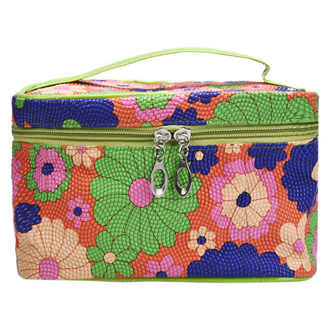 Cute Sunflower Cosmetic Travel Makeup Bag