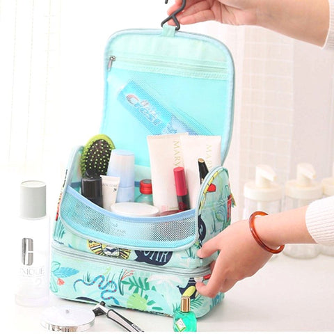 Flamingo Large Waterproof Travel Cosmetic Hanging Toiletry Bag