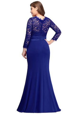Long Sleeve Mermaid Plus Size Formal Dresses