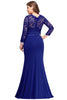 Image of Long Sleeve Mermaid Plus Size Formal Dresses