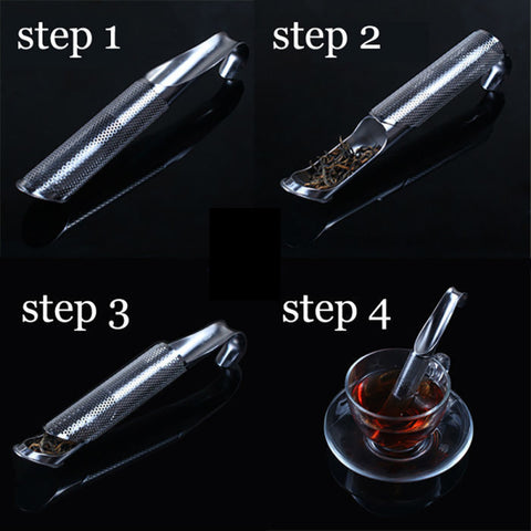 Cool Stainless Steel Loose Tea Steeper Infuser