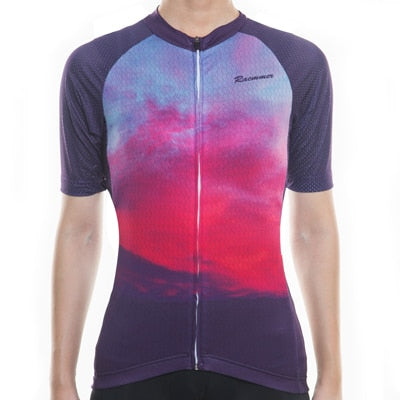 Breathable MTB Short Sleeve Clothing NS-16 Women Cycling Jersey