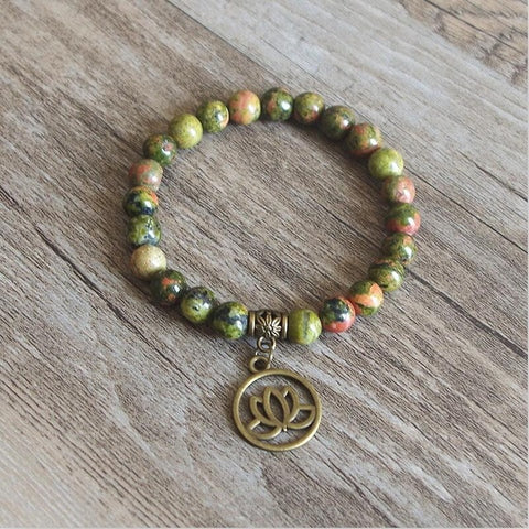 Tibetan Natural Stone Yoga Stretch Chakra Bracelet