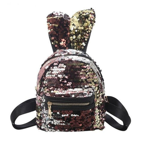 Sequin Bunny Rabbit Small Mini Backpack