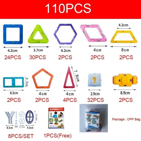 110-142 pcs Magnet Tiles Magnetic Blocks