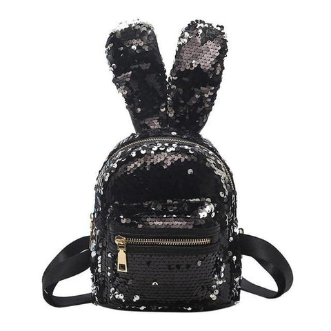 Sequin Bunny Rabbit Minnie Mouse Small Mini Backpack – ShopperFever 22df6b0979dc8