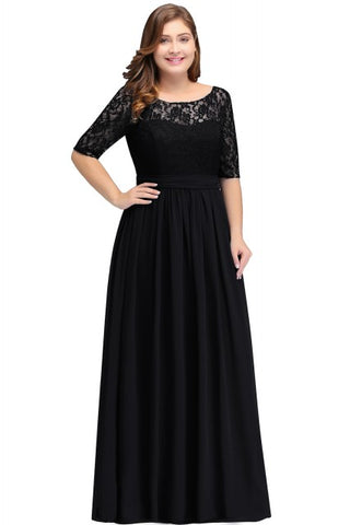 Long Lace Plus Size Formal Dresses