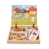Image of Magnetic Girl Dress Up Wooden Puzzle Board