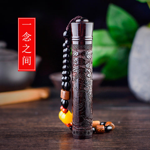Cool Chinese Wood Carving Electric USB Lighter