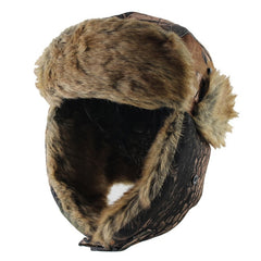 Camouflage Earflap Russian Bomber Hat