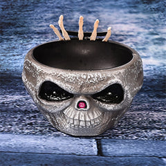 Halloween Prop Skull Horror Fruit Candy Bowl Party Decorations