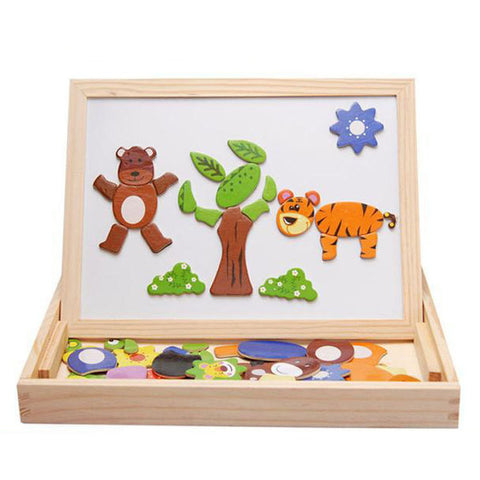 Mamy Baby Forest Wooden Magnetic Puzzle Board