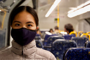 In crowded spaces such as trains a face mask is a handy protective tool to have