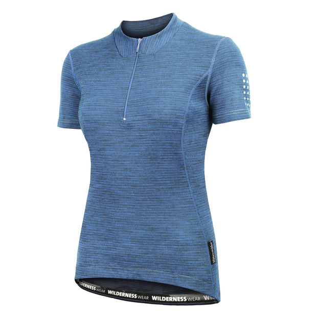 Wilderness Wear - Merino Fusion Light 160 Short Sleeve Cycling Jersey (Womens)