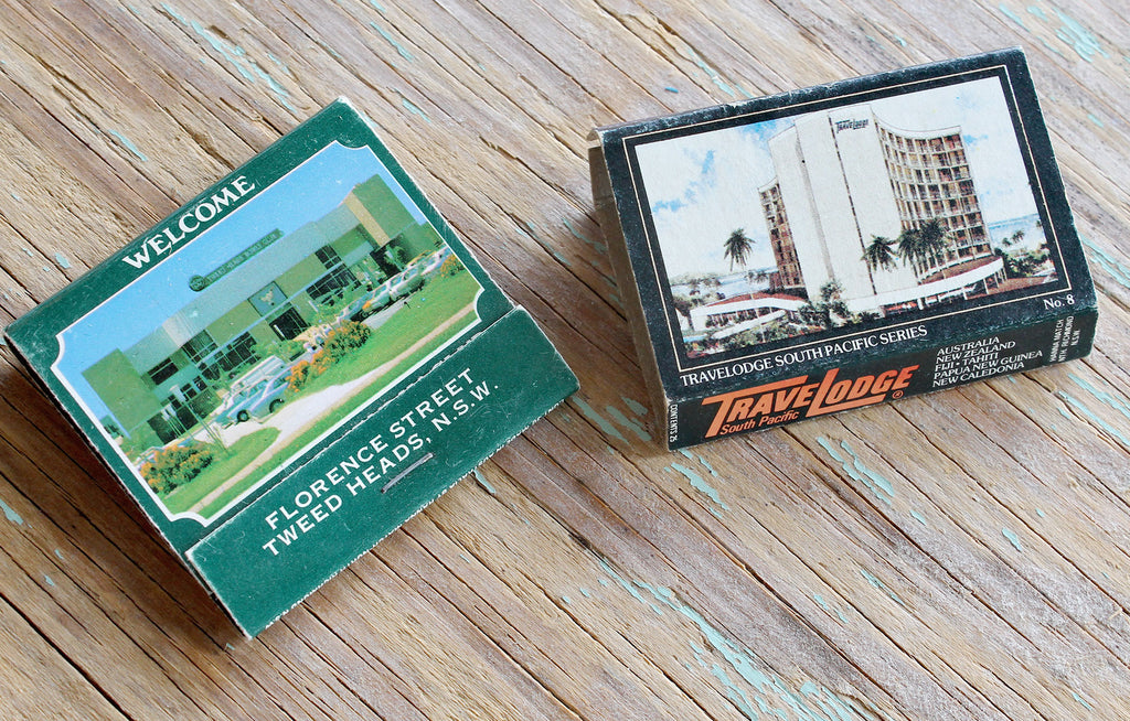 Vintage hotel match boxes from Australia 1960
