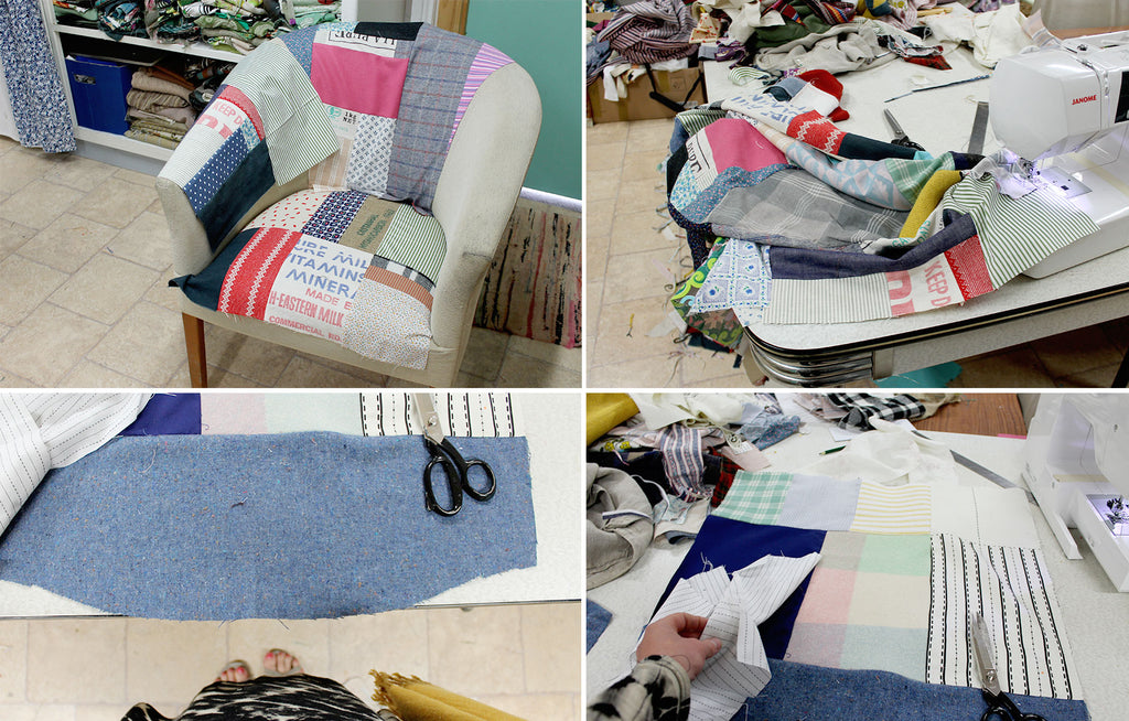 DIY Patchwork Armchair Revamp Tutorial