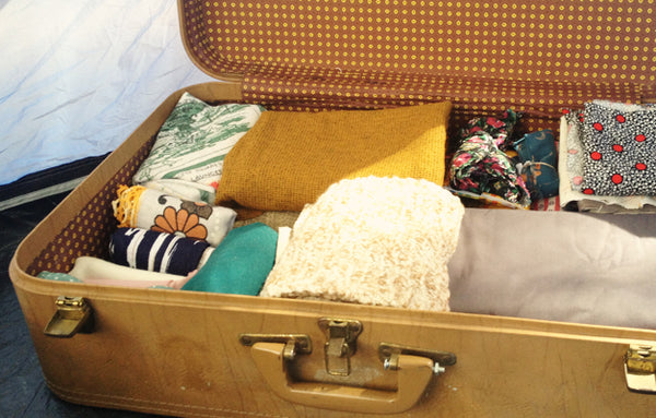 Our suitcase full of OpShop treasures