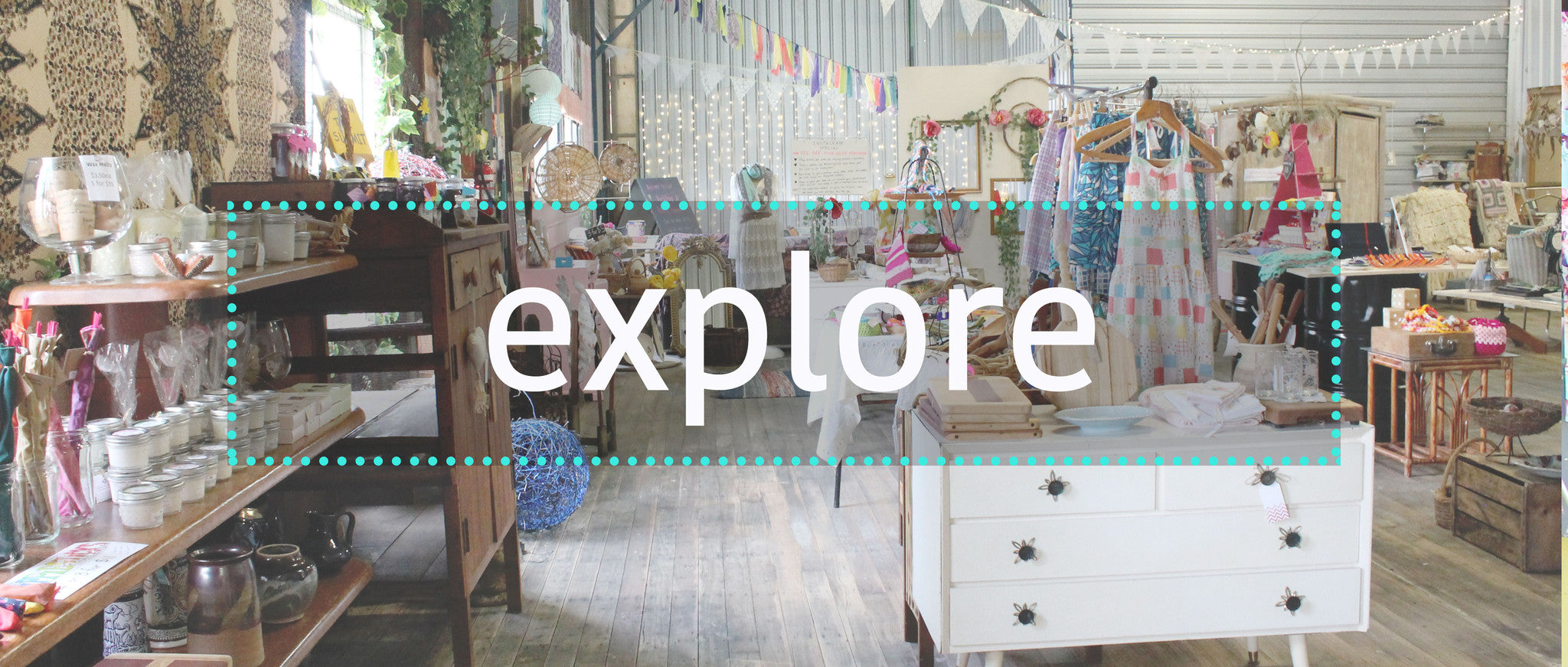 Explore the many nooks and creative spaces within our Recycled Gallery
