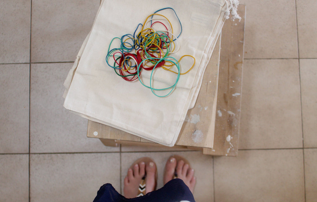 tie dying calico drawstring bags for pretty packaging
