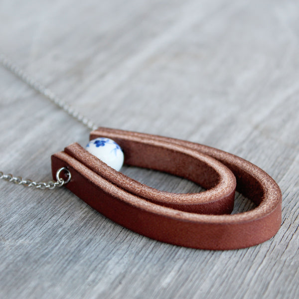 Alethea - Double Leather Loop Necklace