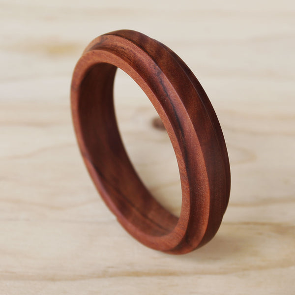 Wood Bangle (Aztec Cut)