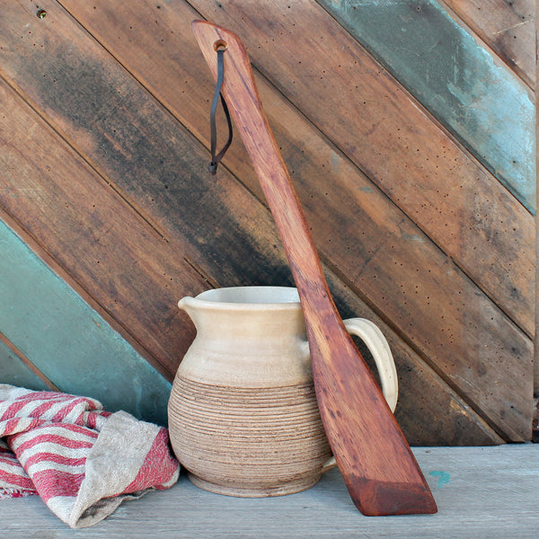 Sally Wattle Large Flat End Wooden Spoon