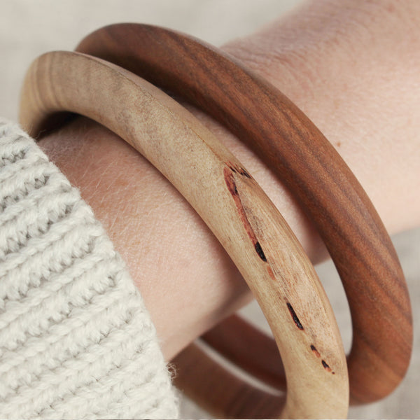 Wood Bangle (Scilla Cut)