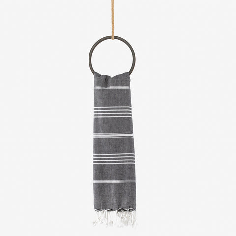 turkish beach towel black