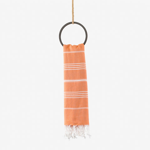 turkish beach towel orange