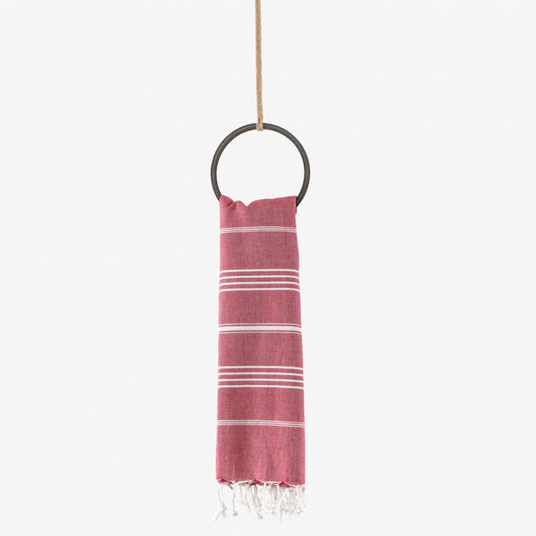 turkish beach towel red