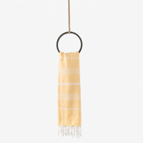 turkish beach towel yellow
