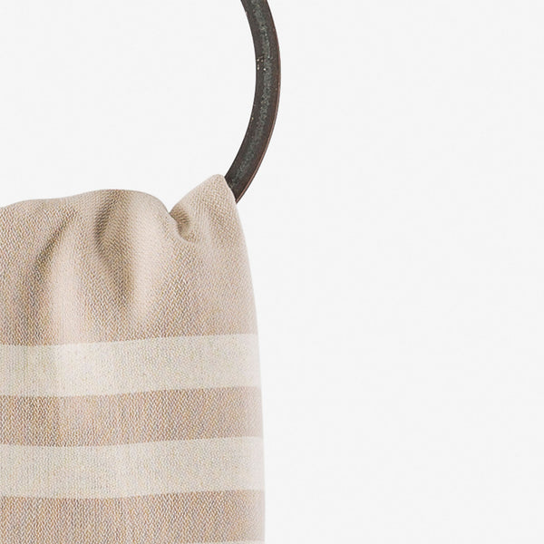 turkish towel coastal beige hanging