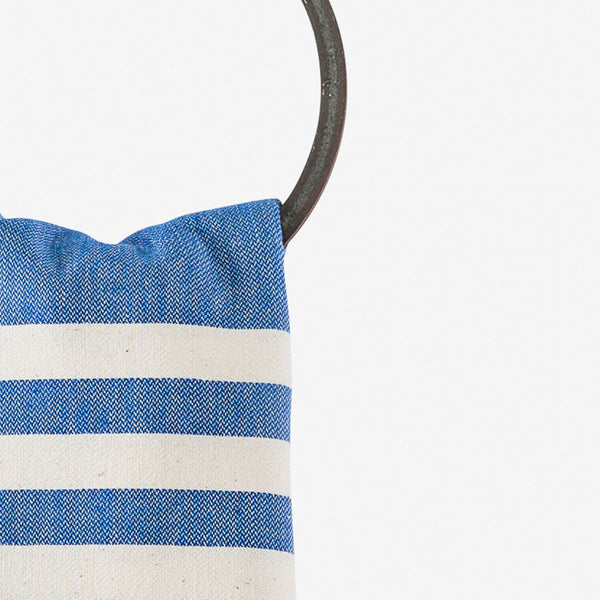 turkish towel coastal cobalt blue hanging