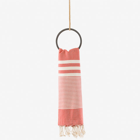turkish towel coastal orange