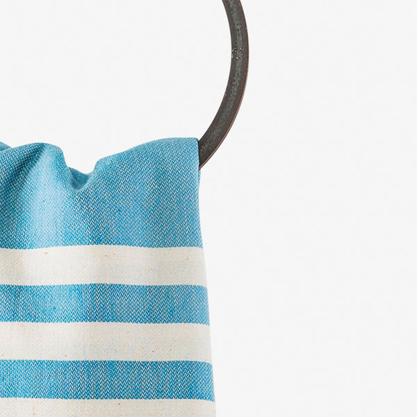 turkish towel coastal turquoise hanging