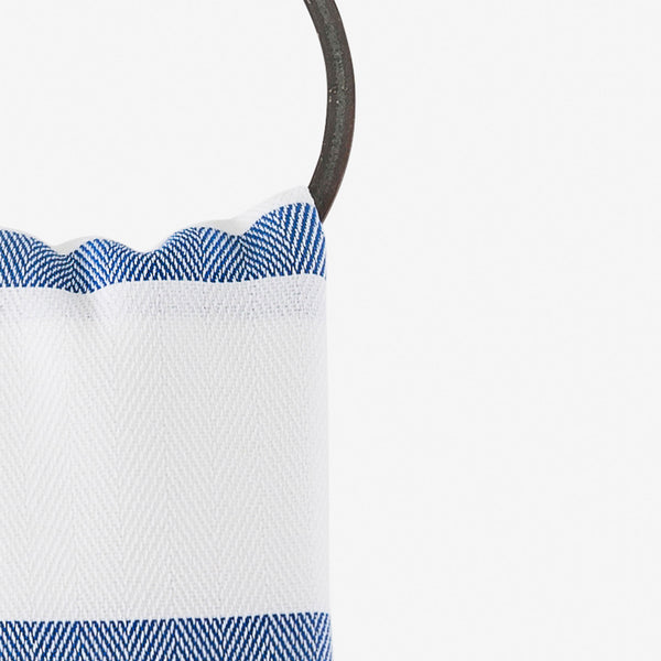 turkish towels herringbone blue hanging