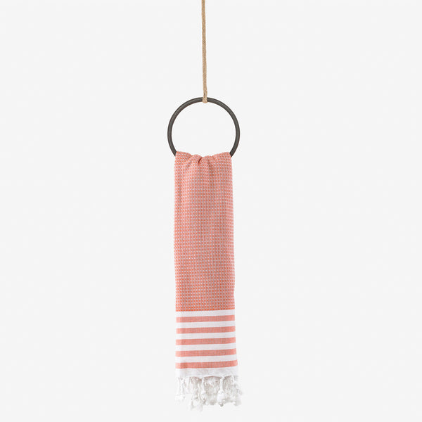 turkish towel honeycomb coral